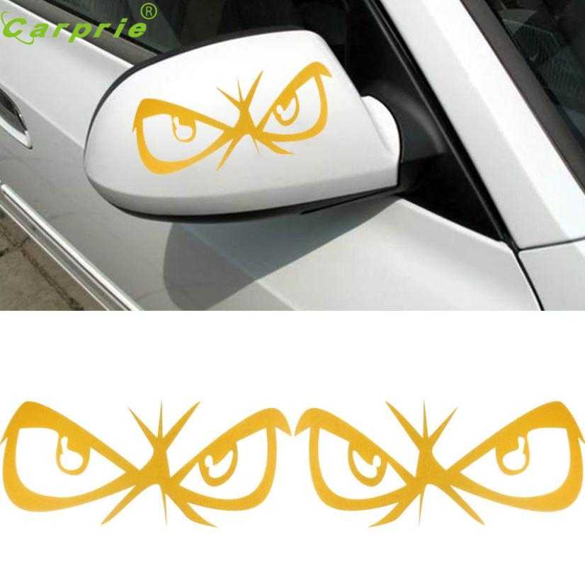 Drop shiping 2017 Fashion Eyes Design 3D Decoration Sticker For Car Side Mirror Rearview Funny Stickers Car Styling