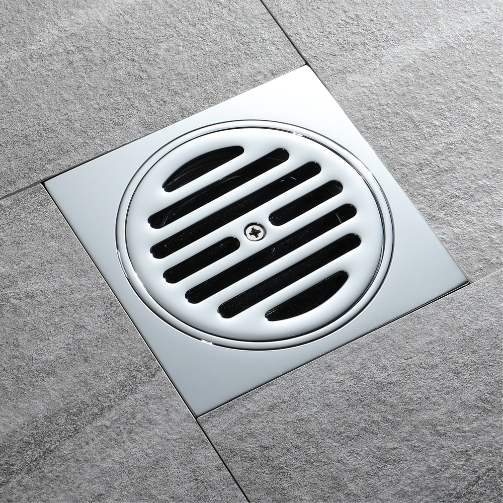 HIDEEP Brass Chrome Plated Kitchen Filter Strainer Drainer Drain Bathroom Deodorization Type Copper Cover Floor Drain For family диски helo he844 chrome plated r20