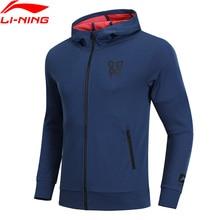 Li-Ning мужской свитер CBA баскетбольная серия, толстовка с капюшоном, приталенная, 74% хлопок, 26% полиэстер, подкладка, комфортное спортивное пальто AWDN341 CJAS18