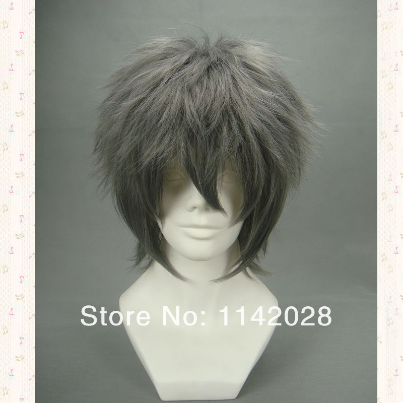 "Usami Akihiko from the anime ""Junjou Romantica"" Short Grey Synthetic Hair Cosplay Costume Wigs Akira Wigs + Wig Cap"
