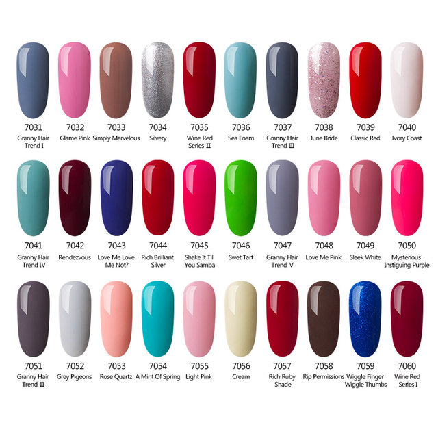 Online Shop AZURE BEAUTY Purple Gel Varnish Nail Polish For Nail ...