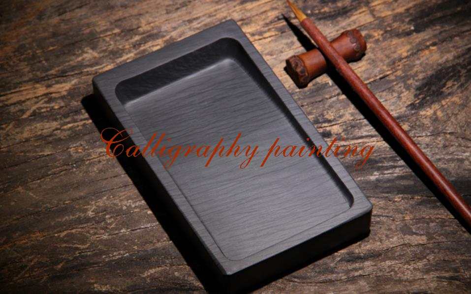 She Ink Stone Rectangle Inkstone Calligraphy Painting Tool chinese zhaoqing song keng inkstone horse pattern inkstone calligraphy painting tool 12838