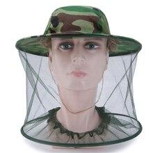 Камуфляжная шляпа для рыбалки, пчеловодство, насекомые, москитная сетка, защитная Кепка, сетка, рыболовная Кепка, уличный солнцезащитный козырек, одинокий шейный головной убор