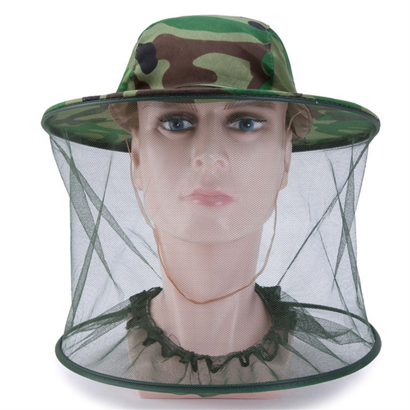 Apparel Accessories Men's Hats Camouflage Unlined Shawl Cap All-matched Mosquito Cap Beekeeping Anti-bee Jungle Cap