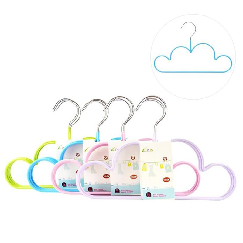 NonSlip Cute Cloud Hanger for Children Kids New Creative Indoor Outdoor Hanger Rack Rubber Coating Colorful