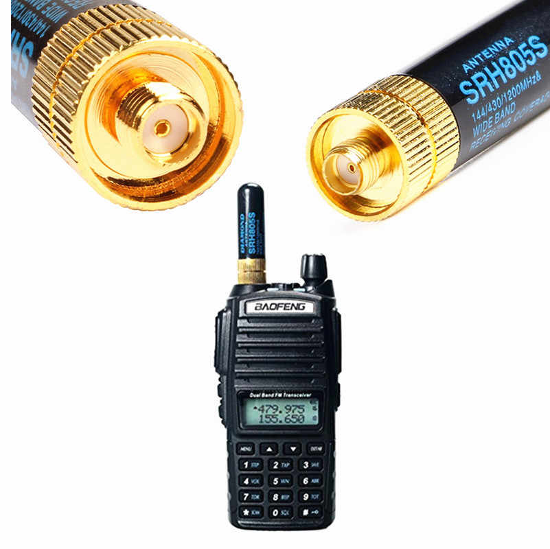 5 Cm SRH805S SMA-F Vrouwelijke Antenne 144/430 Mhz Vhf/Uhf Dual Band Antenne Voor Baofeng GT-3 UV-5R BF-888s Walkie Talkie Accessoires
