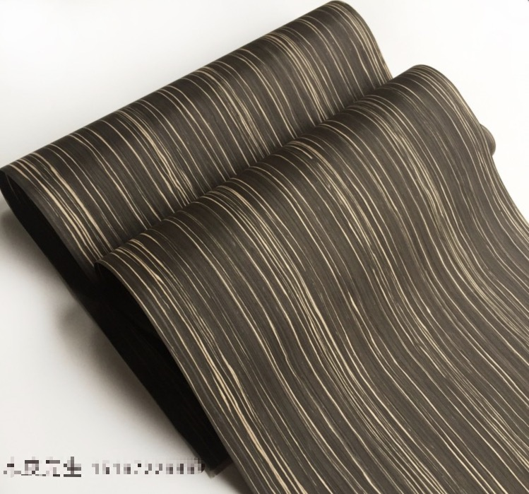 L:2.5Meters/pcs  Width:60cm Thickness:0.25mm Technological Black Sandalwood 149s Wood Bark Veneer (back With Nonwoven Fabric)