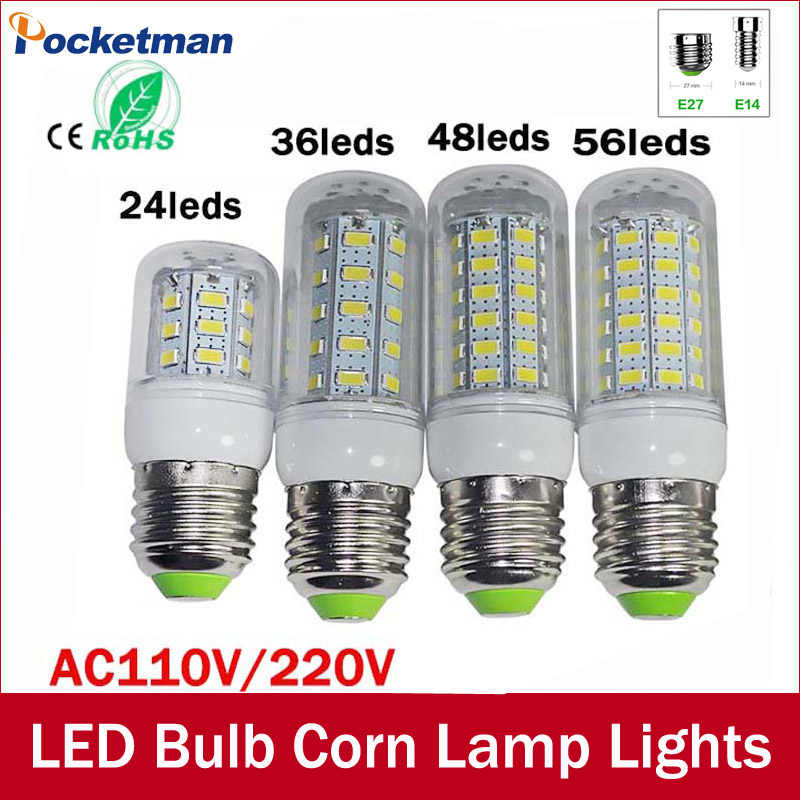 High Lumen 220v Lampada LED Lamp E27 SMD 5730 20W 15W 12W 18W 7W 24/36/48/56/69 LEDs lamparas led Bulb spotlight