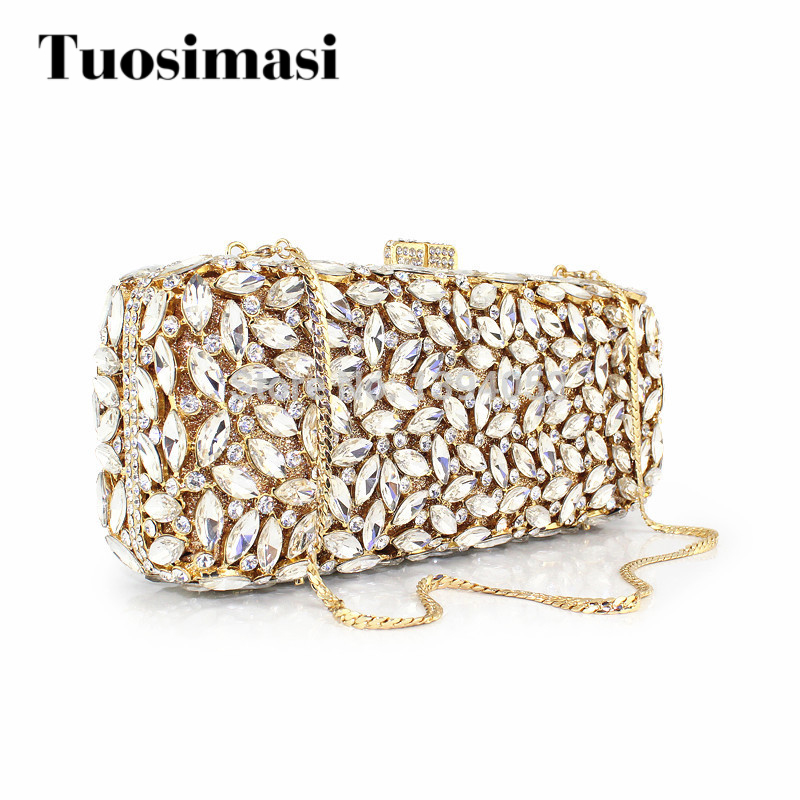 Luxury Women Bridal Floral Rose Shaped Wedding Crystal Clutch Evening Bags artificial rose and lily bridal wedding bouquets