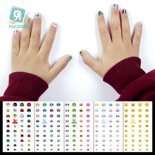 Get more info on the Rocooart DIY Kids Nail Stickers Lovely Emoji Nail Art Decoration Nail Wraps For Child Cartoon Elements Manicure Foil Nail