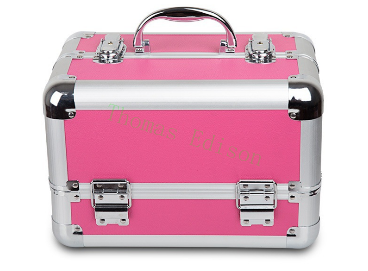 295*190*200MM Multifunctional portable cosmetic box leather Aluminum Alloy hairdressing toolbox tool case hiinst black portable and durable waterproof portable carrying storage aluminum alloy case box for spark drop aug15