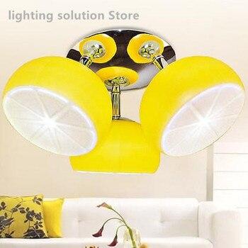 Moderne Kronleuchter mit 3 Beleuchtung Quellen Schöne Zitrone Decke lampe  LiSuitable für schlafzimmer küche esszimmer