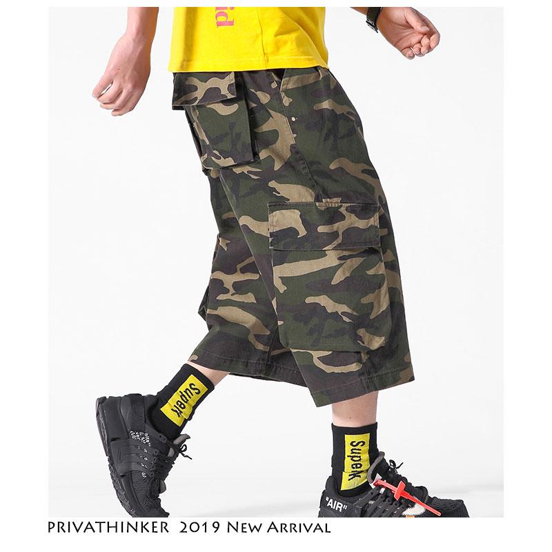 Diskret Privathinker Männer Cargo Hosen Streetwear 2019 Herren Hip Hop Safari Stil Hosen Jogger Koreanische Beiläufige Kalb-länge Hosen Übergröße Belebende Durchblutung Und Schmerzen Stoppen