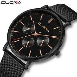 Mens Watch Slim Mesh Steel Waterproof Minimalist Watch Man Reloj Hombre 2019 new arrival in men wrist watches relogios masculino