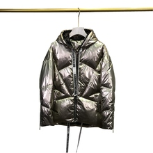 Autumn Winter Women Parkas Down Coats Jacket with Hoody 80%