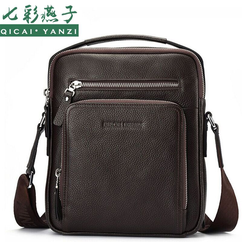 ФОТО 2017 Luxury Brands Genuine Leather Messenger Shoulder Bags Handbags Cowhide Men Fashion Tote Gift Top Quality Free Shipping P405