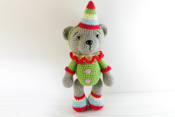 Crochet Christmas Bear Amigurumi - Amigurumi Crochet Animals ... | 380x570