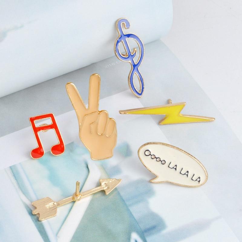 Moda emalia broszka szpilki przypinki na guziki 6 sztuk / zestaw Cute - Modna biżuteria - Zdjęcie 3