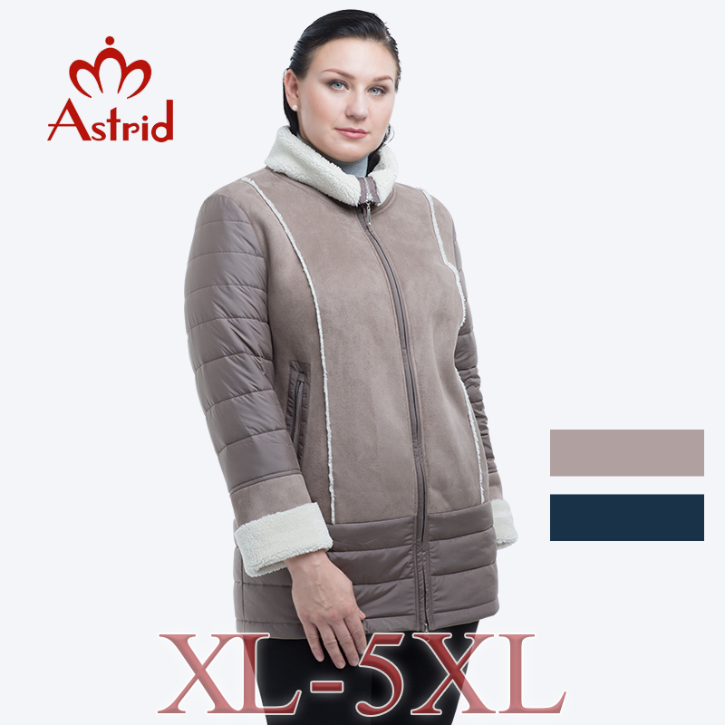 2018 astrid women winter jacket thin Warm coat Plus Size Outerwear solid hooded Coats Female Slim