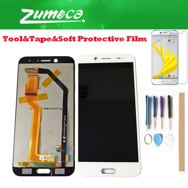High Quality For <font><b>HTC</b></font> <font><b>10</b></font> <font><b>EVO</b></font> <font><b>HTC</b></font> 10EVO LCD Display <font><b>Screen</b></font>+Touch <font><b>Screen</b></font> Digitizer Assembly Replacement Part White Color With Kits image