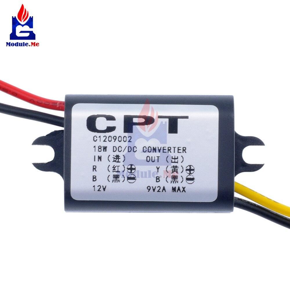 DC To DC Converter 12V Step Down To 9V 2A 18W Power Supply DC Inverter Commutator Translator Module Waterproof For Car