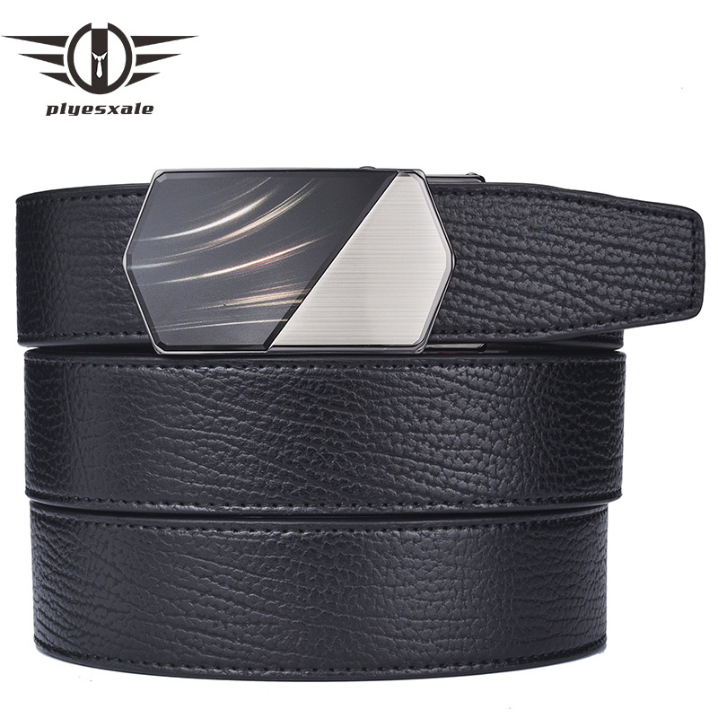 """26/"""" to 44/"""" Orange Real Leather Mens Belts Automatic Buckles Ratchet Waist Belts"""