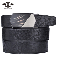 Plyesxale Men Belt Genuine Leather Luxury Mens For Jeans High Quality Automatic Buckle Waist Strap Casual Cinto B16