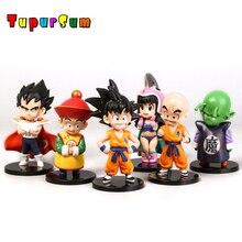 Dragon Ball Z Collectable Figures Son Goku Gohan Goten Vegeta Trunks Bulma Pan Chichi Piccolo Krillin Anime DBZ Model Dolls Toys цена и фото