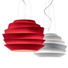 Modernas Foscarini Le Soleil Wave luces pendientes suspensión 40 / 60 cm rosa dormitorio de la lámpara colgante Hanglamp E27 lámparas europeo