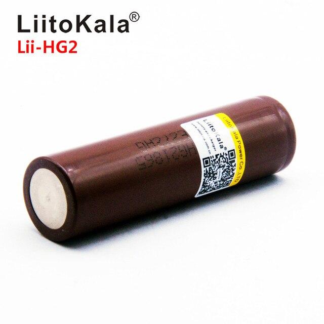 2019 LiitoKala Lii-HG2 18650 18650 3000mah Ad Alta potenza di scarica di potenza della batteria Ricaricabile di alta di scarico, 30A grande corrente 5