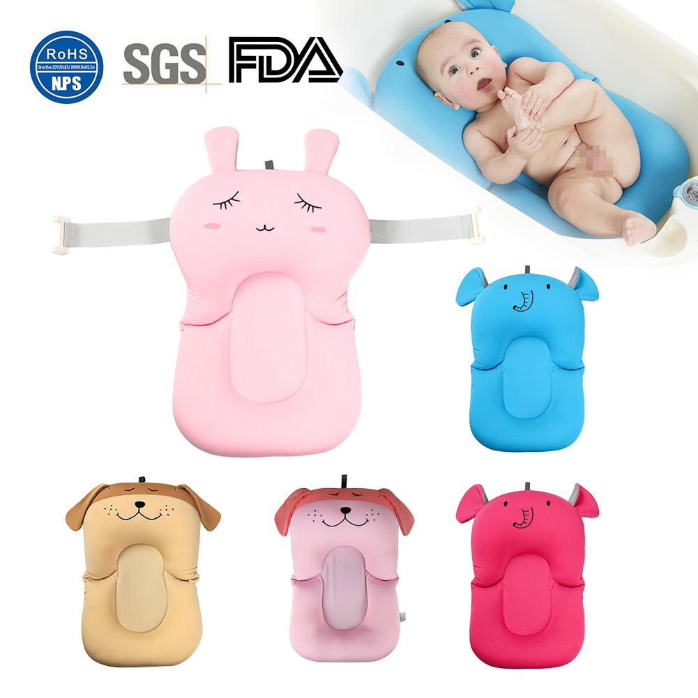 Baby Bath Mat Net Pocket Children's Bathroom Non-slip Bath Bed Floating Bath Cusion Infant Cute Cartoon Animal Mattress Bath Pad bath