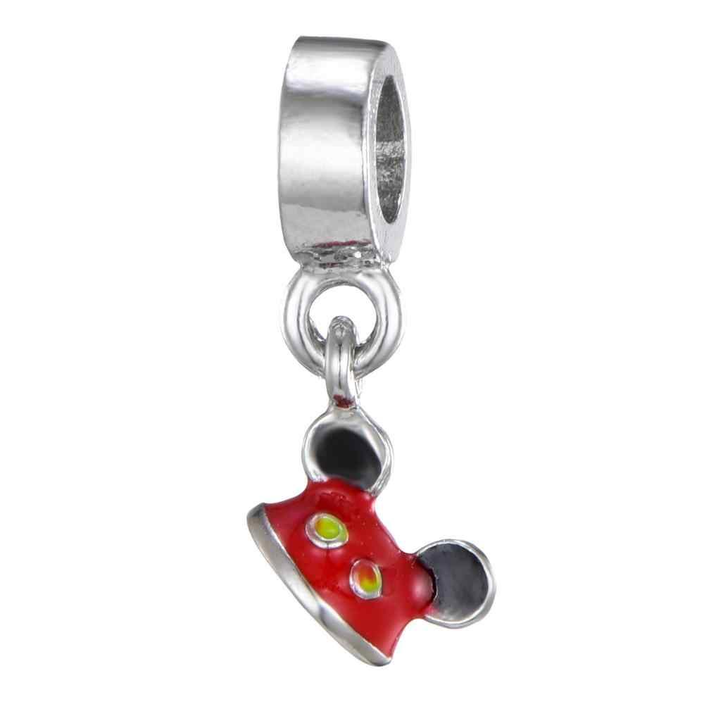 Niekończące się słodkie style Silver Mickey Minnie piękny wisiorek Charms Fit bransoletka pandora bransoletka dla kobiet DIY dokonywanie modna biżuteria na prezent