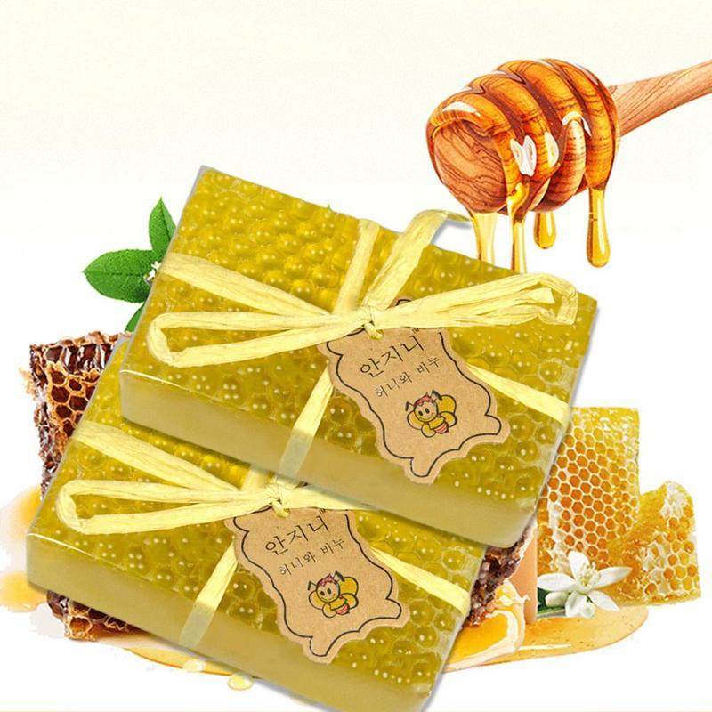 Honey Handmade Soap Whitening Soap Peeling Glutathione Arbutin Honey Kojic Acid Shea Butter Soap Skin Care Oil Control Savon