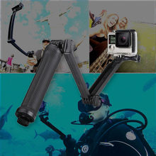 3 Way Waterproof Monopod Selfie Grip Tripod Mount For Gopro Hero 5 4 Session SJ4000 Xiaomi Yi 4K Sports Camera Accessories(China)