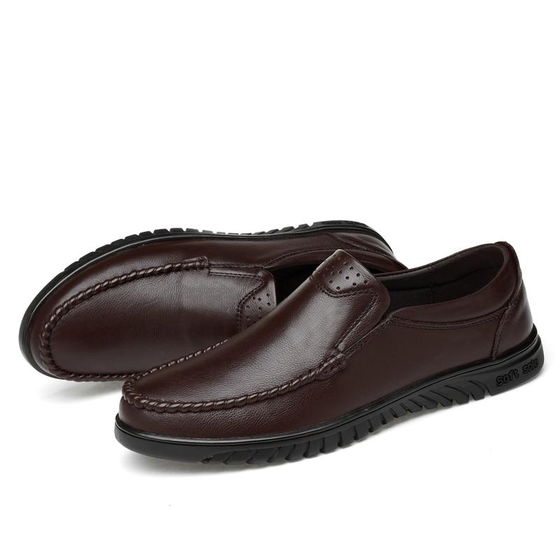 Casual Mode Chaussures Cuir De Style Appartements marron Noir Naturel Haute En Doux Confortable Conduite Mocassins Hommes Qualité v1wxv