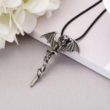 Glow In The Dark Pendant Dragon Necklace