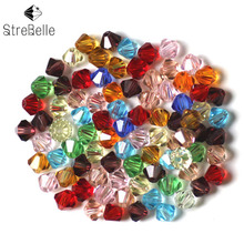 3/4/5/6/8/10MM AAA Bicone Beads 200pcs/lot Crystal Glass Supplier Small Mixed Color ewelry Faceted 5301