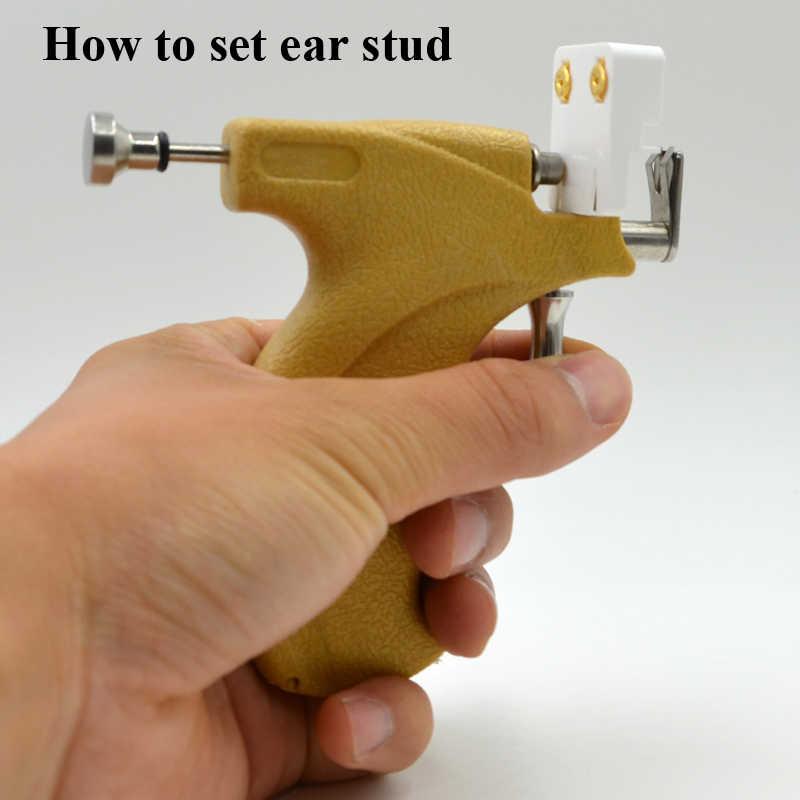 ביצה-מקצועי לא כאב נירוסטה בטוח סטרילי אוזן האף טבור פירסינג אקדח אוזן הרבעה עגיל פירסינג אקדח כלים סט