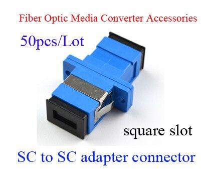 Fiber optic adapter SC to SC fiber coupler SC-SC Connector Square slot Telecom grade 1435657 1[fiber optic connectors at adapt plate 12 fiber sc mr li