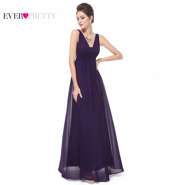Formal Evening Dresses Ever Pretty EP08110 Elegant Black Deep V-neck Ruched Bust Maxi Woman Elegant Evening Dresses Gowns