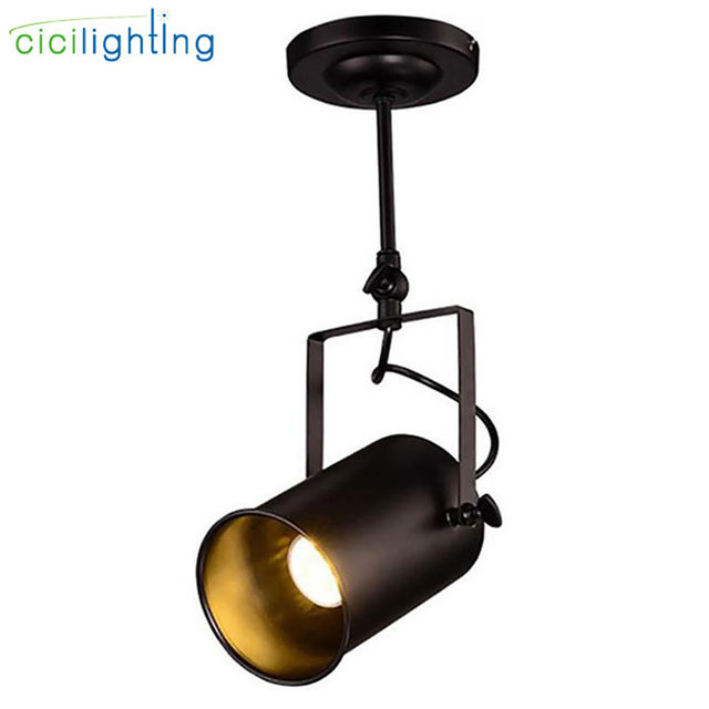 spotlight track lighting. Industrial LOFT 5W Cob Led Spotlights American Style Ceiling Spotlight Rod Lighting Store Project Vintage Spot Lamp Track