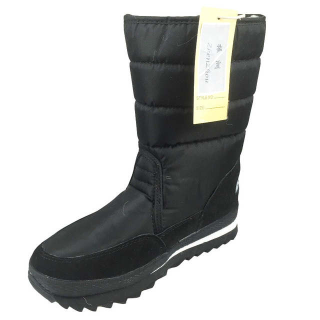 Big size New 2017 women Winter Boots Shoes Snow Shoes Black warm Warm Waterproof Boots Cotton In Plus Size Skid thick heel shoes