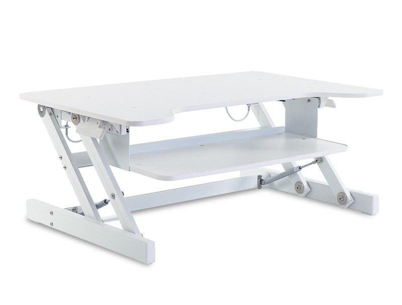 Стоял Рабочий стол встать регулируемая стол стояк конвертер рабочего стола ноутбук Dual Мониторы Офисная мебель стол ноутбук 95 см широкий