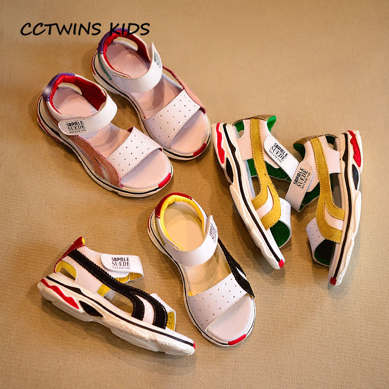 CCTWINS KIDS 2018 Summer Boy Pu Leather Beach Sandal Children Fashion Soft Shoe Baby Girl Brand Black Flat Toddler BB101