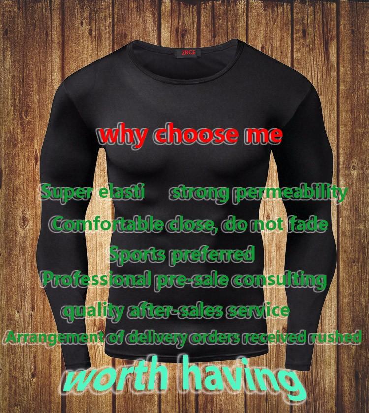 Пишет прибытие быстро сухой сжатия рубашка с длинным рукавом майка плюс размер размещений одежда твердые colorquick сухой телосложение crossfit