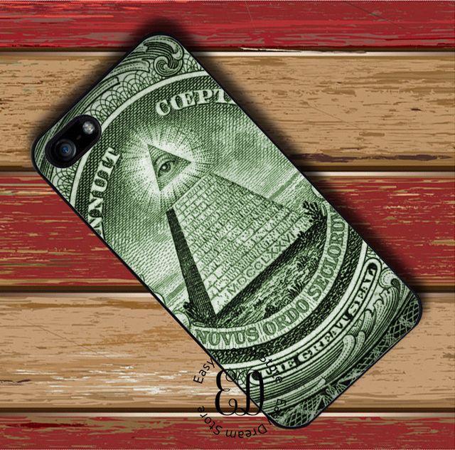 Illuminati Symbol Eye Pyramid Case For Iphone X 4 5s Se 5c 6s 7 8