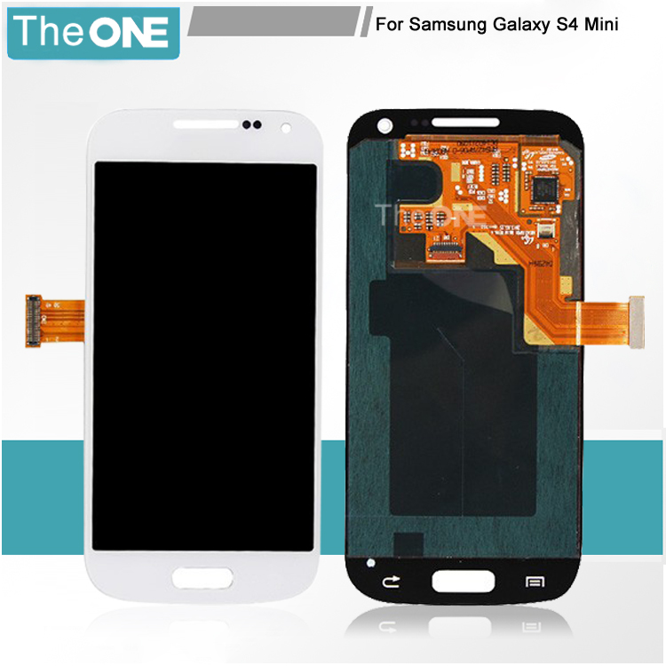 Free DHL LCD Screen with Touch Screen Assembly for Samsung Galaxy S4 mini i9190 i9195 Full Sets Black/White/Blue  цены