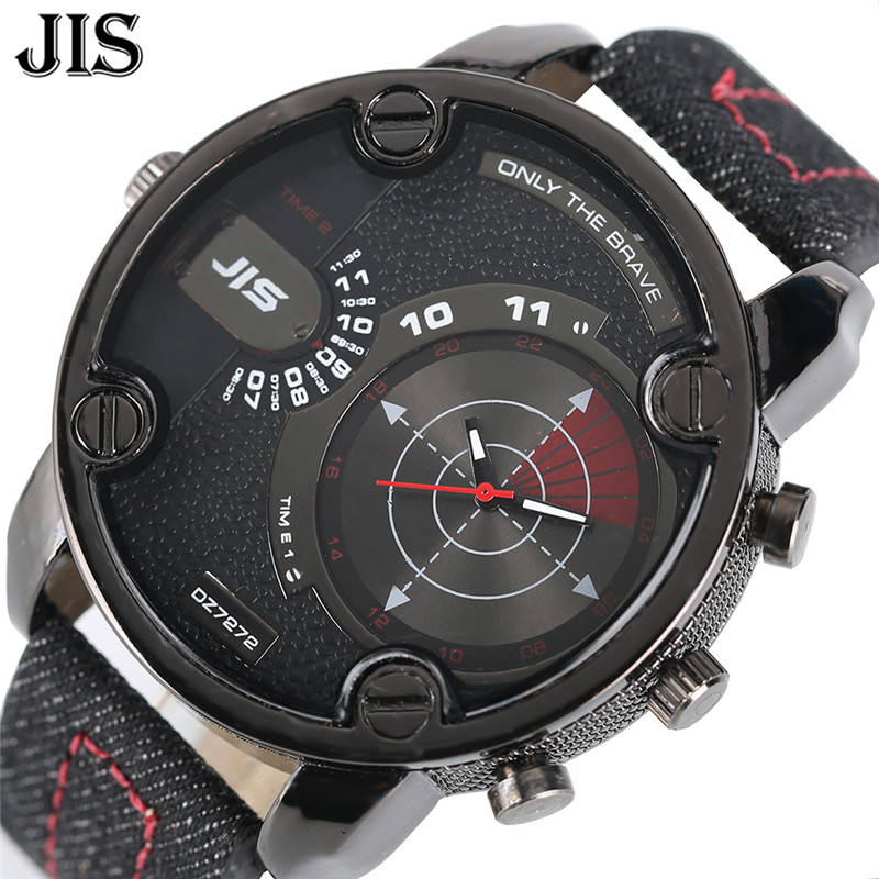 Big Watch Sport Mens Nylon Leather Strap Man's Quartz Wristwatches Outdoor Military Analog Large Size Male Relogios Masculino