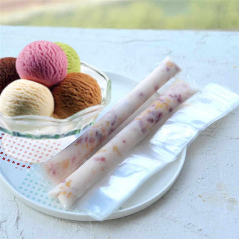 20 ชิ้น/ล็อตพลาสติก FDA Popsicles แม่พิมพ์ตู้แช่แข็งกระเป๋า Ice Cream Pop ทำแม่พิมพ์ DIY โยเกิร์ตเครื่องดื่มฤดูร้อนเด็กงานฝีมือมือ
