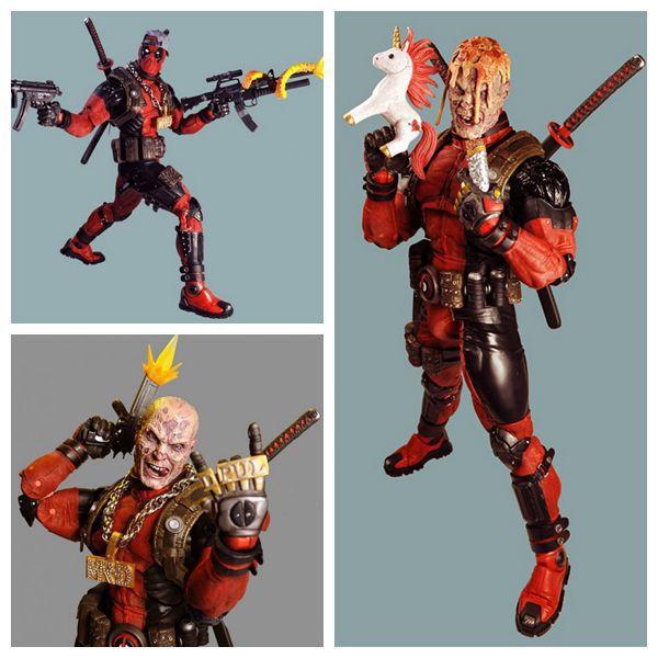 NECA 1/4 Escala Final Deadpool Figuras de Ação Maravilha Herói Brinquedos Colecionáveis 45 cm